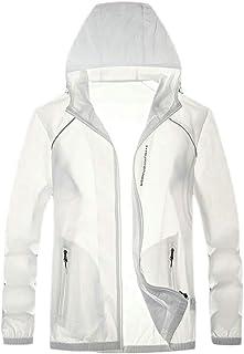 Men Hoodie Windbreaker Jacket Active Quick Dry UV Protect Running Coat