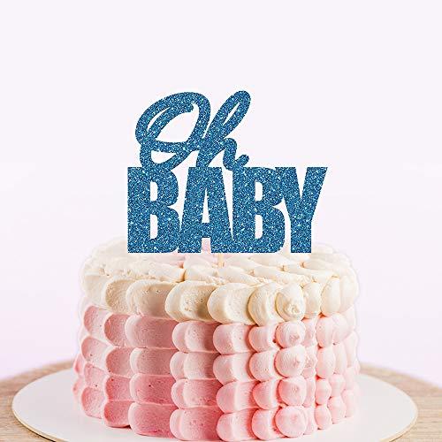 Oh Baby Cake Topper voor Baby Shower,Aangepaste verjaardagstaart Topper met datum