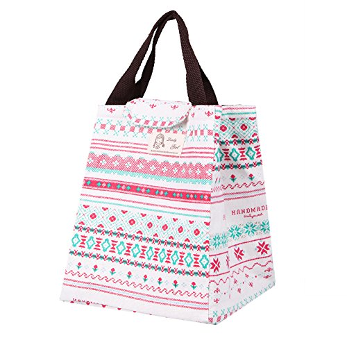 Price comparison product image Kocome 1Pc Portable Thermal Tote Insulated Lunch Box Bag Cooler Picnic Pouch (Rose Red)
