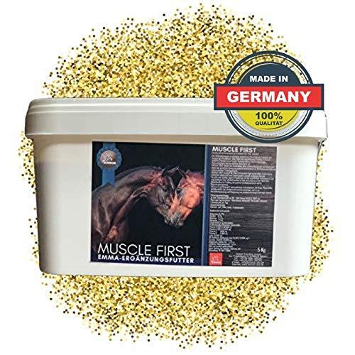 EMMA® Aufbaufutter Muskelaufbau Pferd I Biotin Zink Selen Lysin Pferd I Vitamin E, A, D3, C I Methionin, Kupfer, Aminosäuren Pferde 5 Kg
