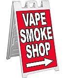 4 Less CO Signicade Vape Smoke Shop A-Frame Sign Sidewalk Pavement Banner Street Sign - rb
