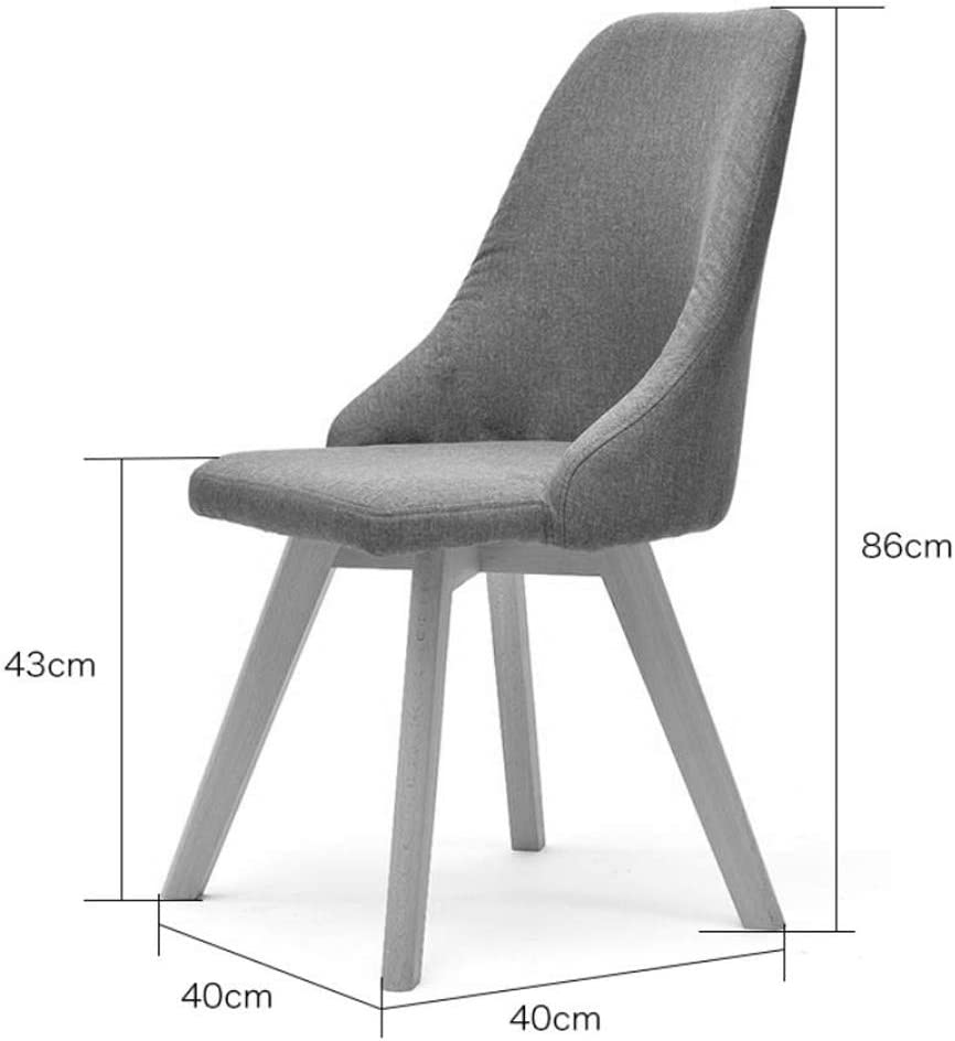 Simple Chaise Bureau étudiant et Chaise de Maquillage Tabouret Retour à la Maison à Manger Chaise d'ordinateur Unique (Color : Gray) Gray