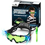 STICKY LIL FINGERS Light-up Spy Goggles - Spy Gear for Kids - Play Secret Agent with Protective Adjustable Eyewear Toy That Lights Up in The Dark Plus Invisible Ink Pen Great Gift for Boys and Girls