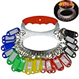 Maydahui Key Organizer Management Portable Key Chain with 28 Separable Key Rings and 30 Assorted Color Key Tags