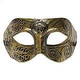 Fliyeong Herren Maskerade Maske Erwachsenen Maskerade Griechisch Römisch Gesichtsmaske Halloween Kostüm Für Kostüm Masked Ball Golden Kreativ und Nützlich