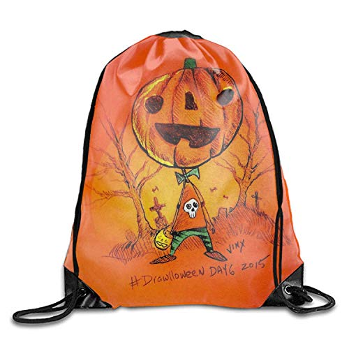 uykjuykj Coulisse Sacchetto,Zaino Coulisse Sacchetto, Lonely Pumpkin People Sackpack Drawstring Backpack Waterproof Gymsack Daypack for Men Women Lonely Pumpkin people1 Lightweight Unique 17x14 in