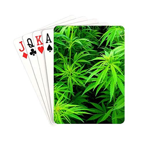 UGDFJYV Druckspielkarten Junge Cannabispflanzen Herren-Spielkarten Einzigartig für Kinder
