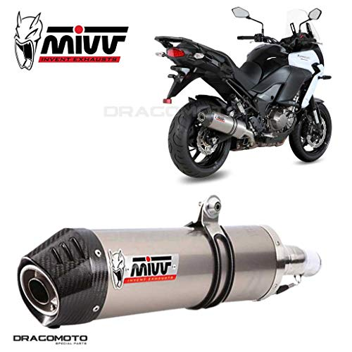 MIVV-Auspuff KAWASAKI Versys 1000 Bj.ab 2015 (OVAL,Titan Carbon-cap,Motorrad)