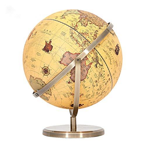 Jopjdpdsf Globus Beleuchtet,Unterrichtende Bürostudie Der Antiken Kugel-Technologie Hd Mit Hellen Verzierungen Prägte Hd 25Cm