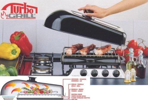 Fogacci vaporcontrol 7365Turbo Grill, Acero Inoxidable, Negro