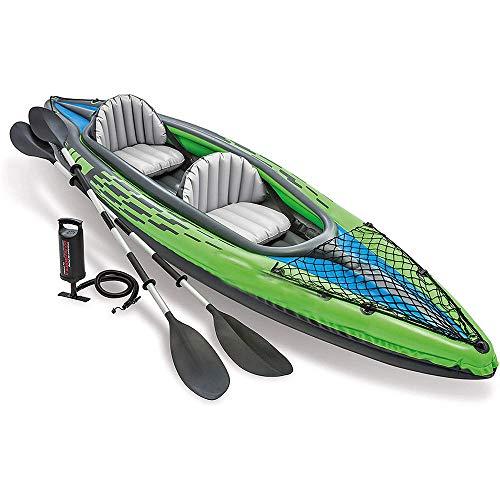 HYDDG Singola Doppia Kayak 2 Persone Gonfiabile Gommone Pagaia in Alluminio Gommone Pompa Barca Resistente all'Usura Grassetto Canoa Bambino Adulto Pompa A Mano Gruppo Alto