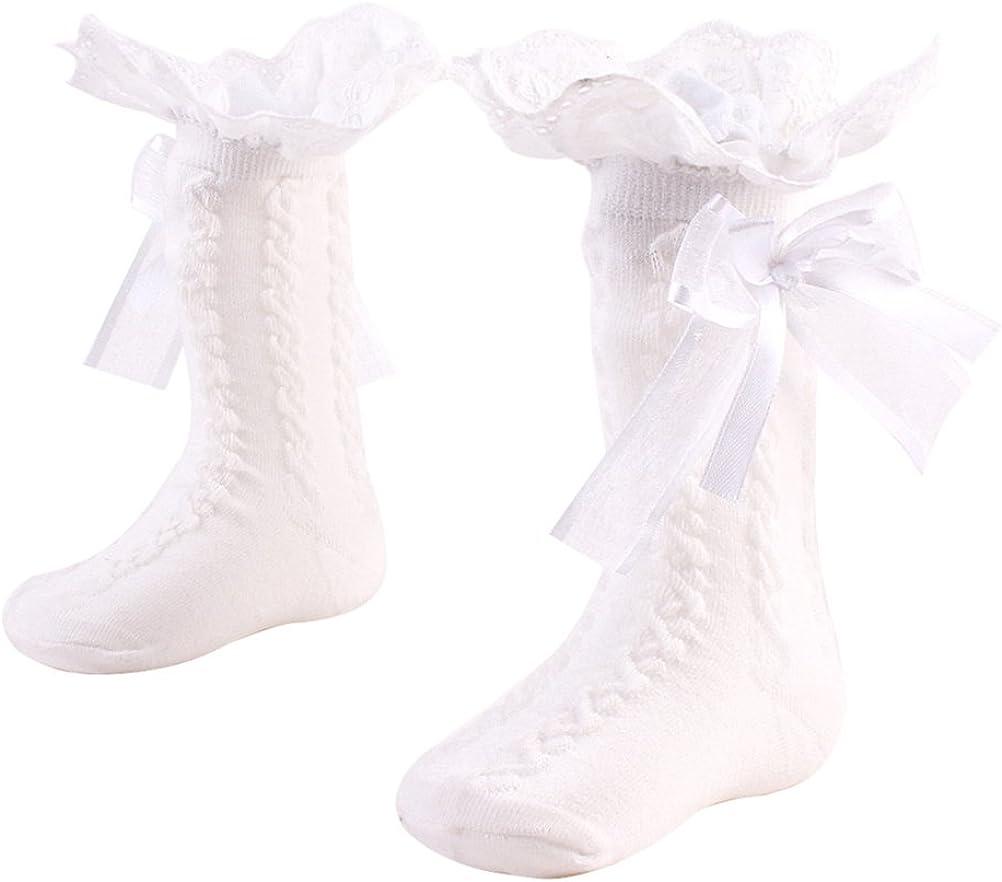 1 Pair Baby Girls Boys Bowknot Soft Knee Warmer High Socks Max 63% OFF 25% OFF Leg T