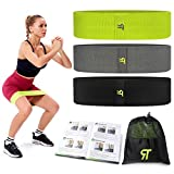 Booty Resistance Bands | Fabric Workout Resistance Bands for Women Butt and Legs | Great for Working Out Glute, Thigh and Hips, Non Slip | 3 Strength
