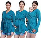 Jozanek Bio Tragejacke Wickeljacke Umstandsjacke Weste für Schwangere Damen Baby 3in1 Skin-to-Skin