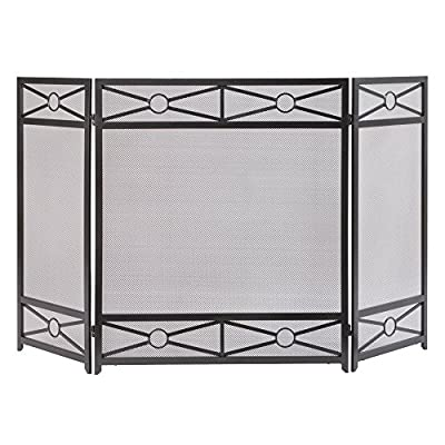Pleasant Hearth FA146S Sheffield Fireplace Screen, Vintage Iron by GHP Group, Inc.