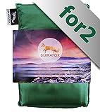 Silkrafox for 2 - Saco de Dormir Ultraligero para Las excursiones de Senderismo, 150 cm de Anchura...