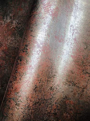 Tapete Gold Kupfer Metallic - La Veneziana II - Vliestapete Gold Muster - für Schlafzimmer, Wohnzimmer oder Küche - Made in Germany - 10,05m X 0,53m - 77706