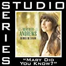 Mary Did You Know (Studio Series Performance Track)
