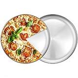 2 Pezzi Teglie per Pizza, Teglie per Pizza Rotonde, Teglia per Pizza in Acciaio Inox, 23 Cm di Diametro, Sano e Resistente, Utilizzato per Pizza, Frutta, Torte, Dolci, ECC