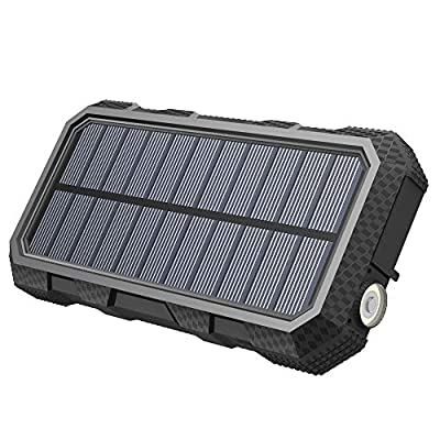 A ADDTOP Solar Charger 26800mAh 18W Power Bank with 3.0A Outputs USB C Waterproof Battery Pack for Smartphones, Tablets, MacBook