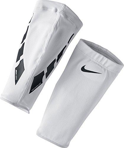 Nike NK Guard Lock Elite SLV Shin, White/Black/(Black), M