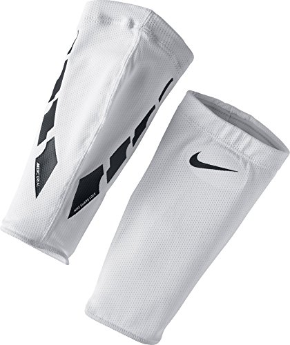 Nike NK Guard Lock Elite SLV Shin, White/Black/(Black), L