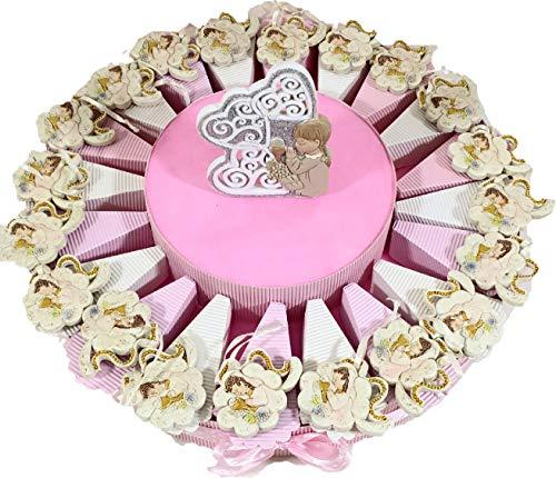 Sindy Bomboniere 8054382130 Torta Bomboniera Comunione Bimbo, Resina, Panna, 5 cm
