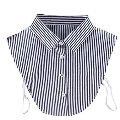 Kanpola Damen Kragen Puppe Abnehmbare Kragen Shirt Bluse