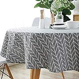 Gerfogoo mantel redondo pintura mantel mantel de algodón lavable para cocina comedor mesa buffet decoración (# 1)