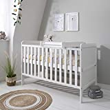 Rio Wooden Cot Bed & Cot Top Changer (<span class='highlight'>Tutti</span> <span class='highlight'>Bambini</span>) - 3 in 1 Convertible Baby Cot Bed, Toddler Bed and Matching Cot Top Baby Changer (White)