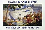 Vintage Advertising Aviation Plane Travel Poster Reproduction 'Hawaii' Pan American Airways Wall Art Decoration Print (36'x24')