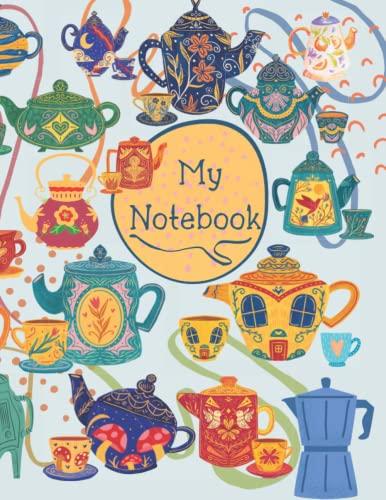 Viktorie Šídová - Cuadernos mágicos de la serie de tetera de tapa blanda, cuaderno y diario: 8.5 x 11 pulgadas, líneas punteadas, 100 páginas, 1 unidad (Mis cuadernos)