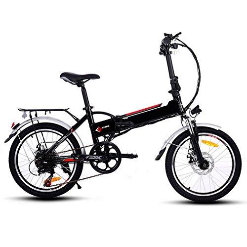 Profun Vélo de Montagne électrique Pliant Roues de 20/26 Pouces Batterie Lithium-ION Grande Capacité (250 36V 8Ah) Suspension Complète Premium et équipement Shimano (Type 2 Noir)