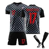 ZQYDUU Niños Hombres Croacia Uniforme De Fútbol, #10 Modric #17 Mandzukic Jersey,Conjunto De Camisas De 2021 Aleras, Fútbol De Manga Corta Entrenamiento Deportivo Gift #17-24