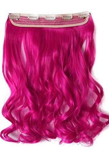 PRETTYSHOP 5 Clips 25cm x 60cm 120g One Piece Clip in Extensions Haarverlängerung Hiztebeständig Bunt Gewellt oder Glatt Diverse Farben