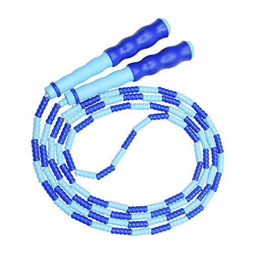 Springseil, weiches Perlen-Springseil,Fitness-Springseil für Kinder, Männer und Frauen, verstellbares und verwicklungsfreies Sprungseil für das leichte Training,Gewichtsabnahme, Ausdauertraining