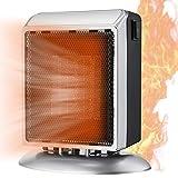 Calefactor Eléctrico,Calefactor de aire caliente Cerámico Calentador de Espacio Portátil,2 Modos,Protección sobrecalentamiento,Sensor Antivuelco,900W Calefacción