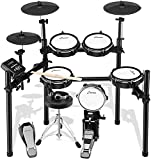 Donner Electric Drum Set, Mesh Head 8 Piece Electronic Drum Kit with 225 Sound , Electric Drum for for Beginner, Drum Throne, Sticks Headphone and Audio Cable Included