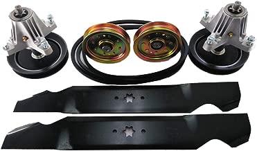 PROVEN PART Deck Rebuild Kit Spindles Blades Belt Idler Pulleys Replace Craftsman 753-08171, 942-04308, 954-04060, 918-04822A