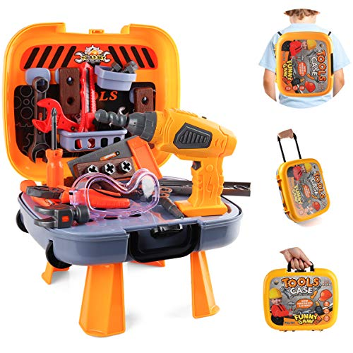 HONYAT 4 in 1 Kids Tool Set with Electric Drill