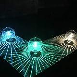 Mobestech 3 piezas de luz solar para piscinas Luz de flotación impermeable Globo de estanque Decoración de luz flotante para piscina Jardín (Luz colorida)