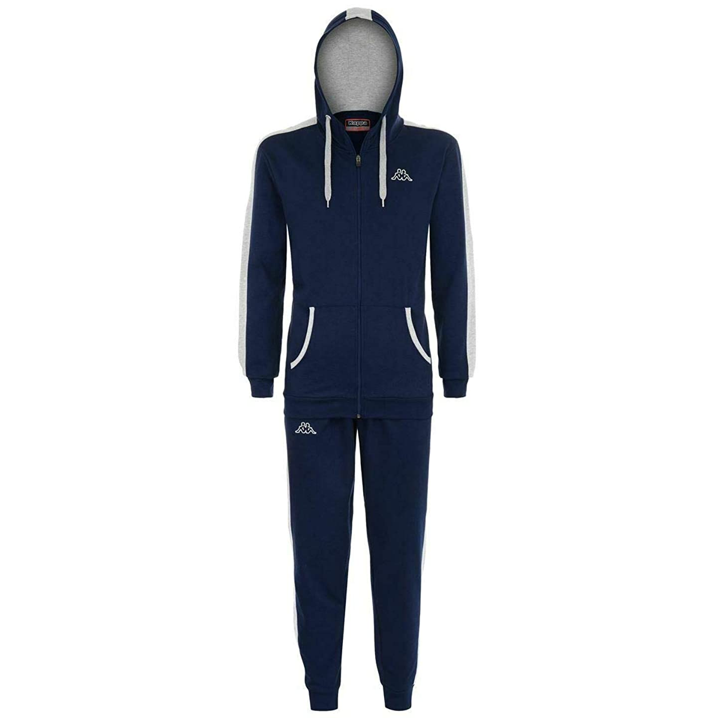 Kappa Tracksuit Men KAPPA Navy Blue Hoodie Cotton Joggers Pants L