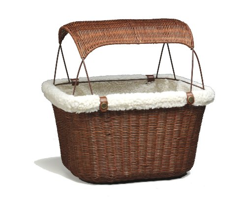 PetSafe Solvit Tagalong Wicker Bicycle Basket, Dog...