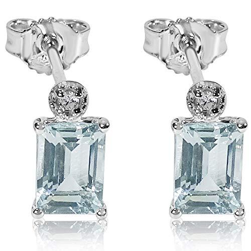 Orecchini Donna Oro e Diamanti in Oro Bianco 9Kt 375 Diamanti 0.05Carati–acquamarina 2,6Carati Clicca su MILLE AMORI blu e scopri tutte le nostre collezioni