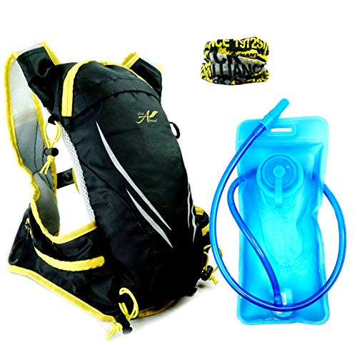 lookahead small Hydration Backpack Pack + BPA-Free Water Bladder-Perfect for Cycling-Running-Biking-Climbing-Trekking-Skiing. Professional Camel Rucksack for Men-Women/Best Gift-Gratis Face Cover