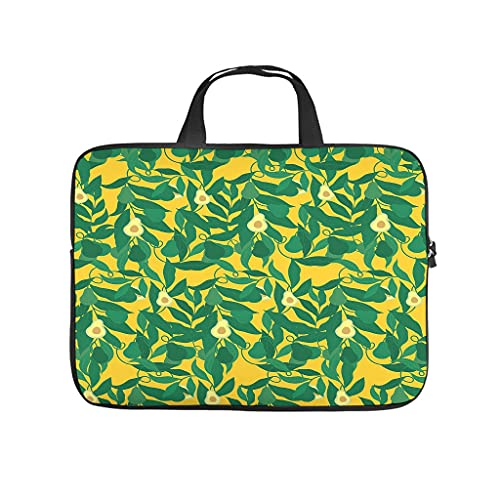 aguacate - Bolsa para ordenador portátil con diseño de frutas amarillas
