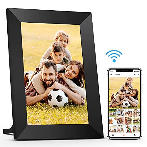 8 Pollici 16 GB WIFI Cornice Foto Digitale, Cornice Digitale Touch Screen HD IPS 1280 x 800, Cornice Foto Auto-Rotazione, Condivisione di Foto e Video Tramite App Sempre e Ovunque Prumya