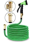 Best Expandable Hoses - 100ft Expandable Garden Hose with Solid Brass Fittings Review
