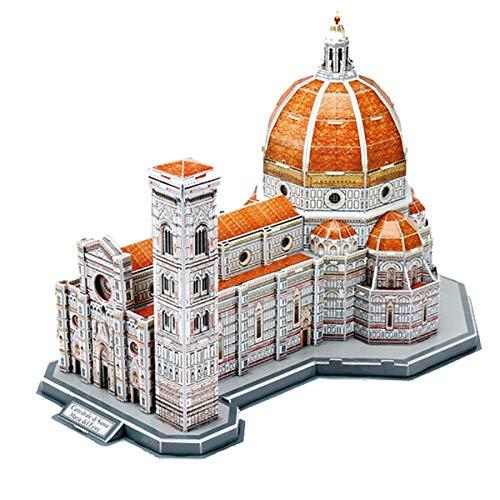 sookin Puzzle 3D Lernspielzeug Simulationsmodell befleckte Kunst Gebäude Kathedrale von Florenz Kreative Denkspiele DIY Handgemachte Kits,Geburtstag/Jubiläumsgeschenk für Jungen Mädchen
