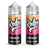 Twin Pack - 2 x 100ml <span class='highlight'>Fruit</span> Ballad E <span class='highlight'>Liquid</span> 70/30 Vape Juice E-<span class='highlight'>Liquid</span> Juice 0mg Flavoured eJuice E Cigarette <span class='highlight'>Liquid</span> No Nicotine 120ml Bottle Short Fill 200ml (Rodeo E <span class='highlight'>Liquid</span>)